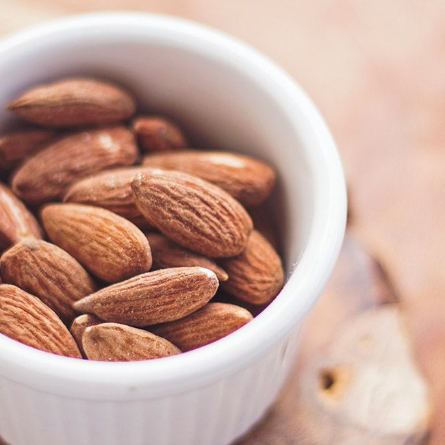 Healthy portion size of almonds