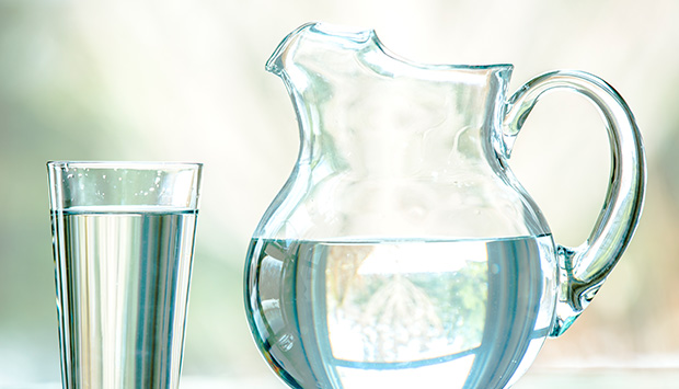 A glass of fresh water