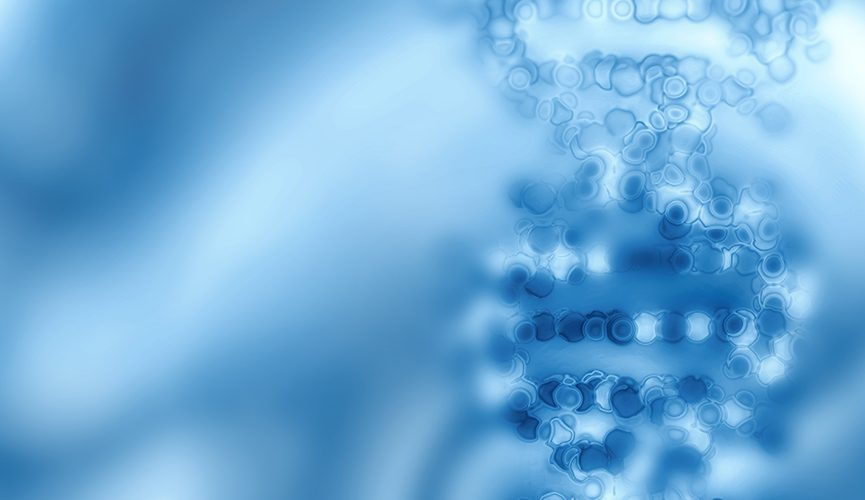 Abstract image rendering of DNA