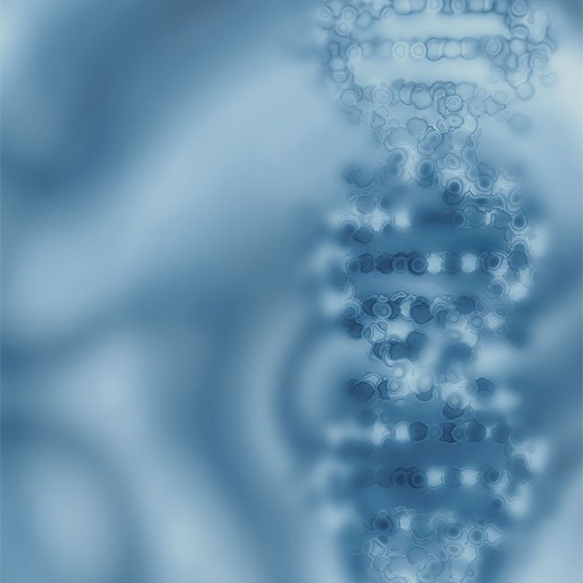 Abstract image of a DNA helix