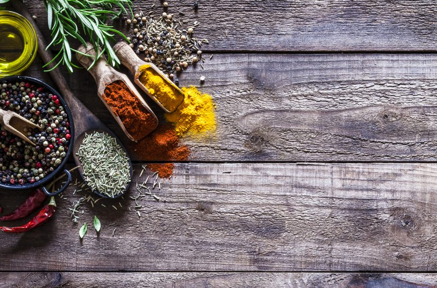 Table of spices and herbs