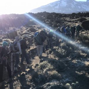 Group of climbers on Kilimanjaro
