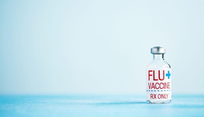 Vial of flu vaccine